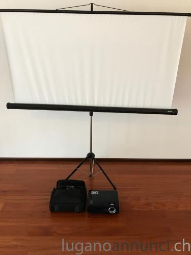 Retro-Proiettore Beno + Schermo medium