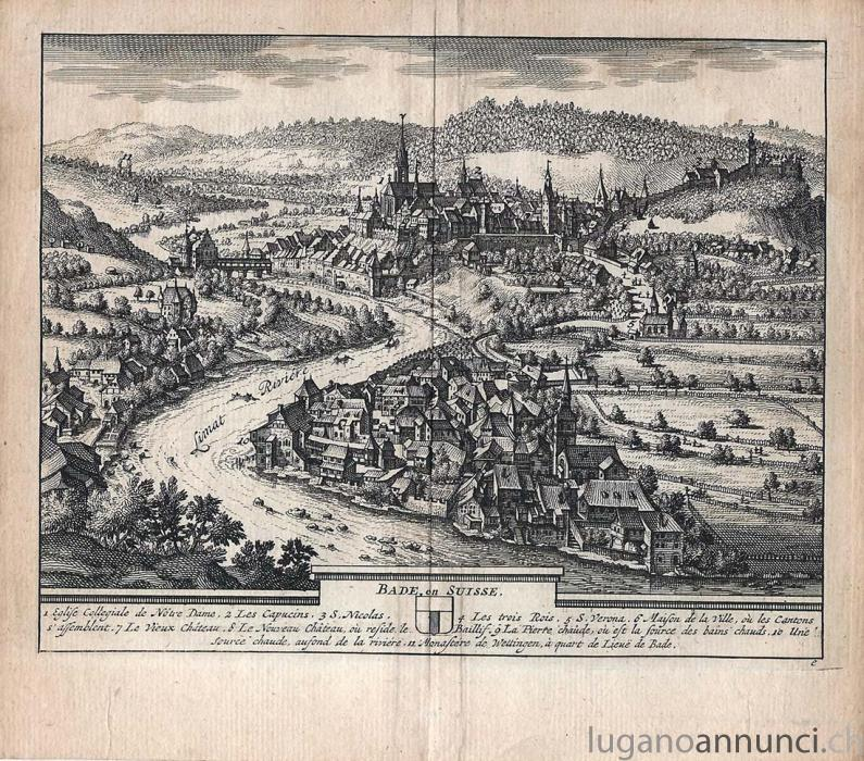 BADE, en SUISSE - 1714 - cm 17,5 x 15,5 Folio BADEenSUISSE1714cm175x155Folio.jpg