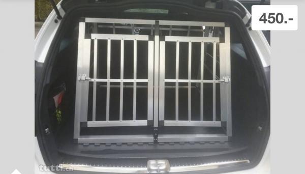 Box doppio per trasporto cani per auto NUOVO 449995a.jpg