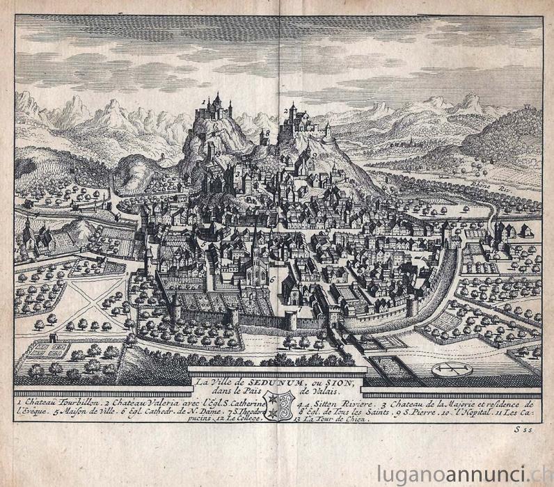 La Ville de SEDUNUM , ou SION - 1714- cm 17,5 x 15,5 Folio LaVilledeSEDUNUMouSION1714cm175x155Folio.jpg