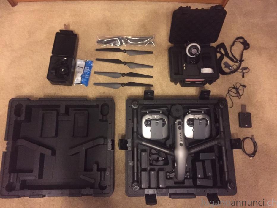DJI Inspire 2 con fotocamera X5S e fascio di volantini di messa a fuoco DJIInspire2confotocameraX5Sefasciodivolantinidimessaafuoco.jpg