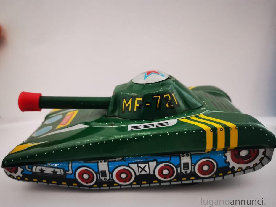 Giocattolo Toy Carro Armato Tin Latta Tank Anni 60' GiocattoloToyCarroArmatoTinLattaTankAnni60.jpg