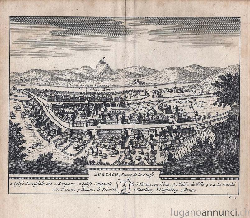 ZURZACH Bourg de la suisse - 1714 - cm 17,5 x 15,5 Folio ZURZACHBourgdelasuissecm175x155Folio.jpg