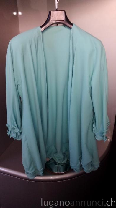 Blusa donna turchese in cotone tg.L/XL (nuova) BlusadonnaturcheseincotonetgLXLnuova.jpg