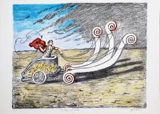 Giorgio De Chirico (1888-1978) La biga invincibile, 1969