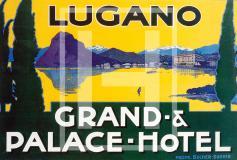 Manifesto vintage Lugano - Grand Hotel Palace