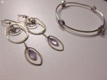 SCONTO: Set orecchini e bracciale in argento 925 con ametista SCONTOSetorecchiniebraccialeinargento925conametista-5dbdc62f74ad7.jpg