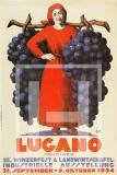 Manifesto Vintage Lugano Festa della vendemmia 1934