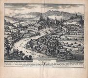 BADE, en SUISSE - 1714 - cm 17,5 x 15,5 Folio