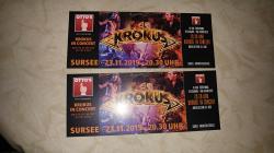 Vendo due biglietti concerto Krokus 23.11.2019 Sursee