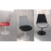 TULIP - sedia girevole bianca o nera design Eero Saarinen