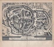 La Ville & L'Abbaye de S.GALL - 1714 - cm 17,5 x 15,5 Folio