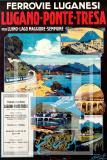 Manifesto Vintage Ferrovie Luganesi - Lugano Ponte Tresa