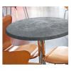 Alluminio W - tavolo con gamba in alluminio