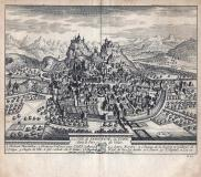 La Ville de SEDUNUM , ou SION - 1714- cm 17,5 x 15,5 Folio