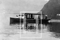 Lugano Gita in barca anno 1901