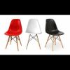 DSW Eiffel chair Eames - Sedia in Polipropilene e gambe in legno