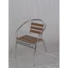 SOFIA - sedia (poltrona) in alluminio e WPC da esterno per bar, ristorante, pisc