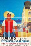 Manifesto Vintage Lugano Festa della Vendemmia 1971