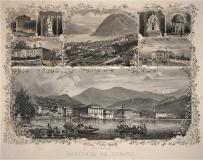 Souvenir de Lugano - Antica Incisione Originale 1880