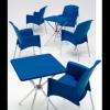 SUPER JENNY - sedia (poltrona) Impilabile in polipropilene con gambe in allumini