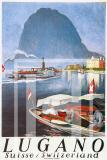 Manifesto Vintage Lugano Suisse - Switzerland
