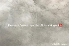pavimenti cemento spatolato chf 100 mq