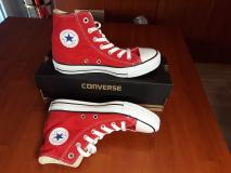 Scarpe Converse All Star hi Rosse