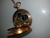 A. LANGE&SÖHNE Taschen Uhr 750er Gold -