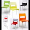 DIVA - Sedia in polipropilene rinforzato fibra di vetro con gambe in alluminio S