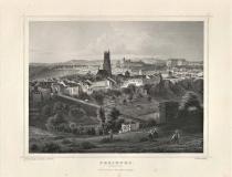 Freiburg - Antica incisione originale