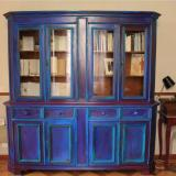 Libreria antica restaurata in stile shabby