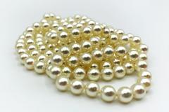 Lunga collana perle vintage doppio filo