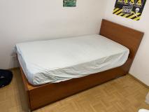 Vendo letto singolo una piazza e mezzo con letto aggiunto
