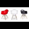 DAW Eiffel chair Eames - Sedia in Polipropilene e gambe in legno