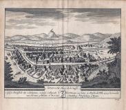 ZURZACH Bourg de la suisse - 1714 - cm 17,5 x 15,5 Folio