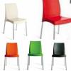BOULEVARD - sedia Impilabile in polipropilene con gambe in alluminio GRAND SOLEI