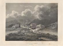 Hospiz St.Gotthardt - Incisione Originale - Gravure originale- Alte Gravur