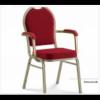 EVENT PLUS - Sedia con braccioli in tessuto telaio