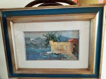 """Lago  di Como """"Castello di Lierna""""  Hermes Stringo 1978"""