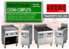 CUCINA PROFESSIONALE COMPLETA LINEA 70