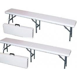 Panca (panchina) in polietilene e metallo pieghevole per catering, feste, eventi 424074a.png